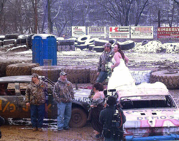 Demolition Derby wedding