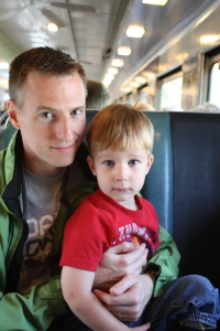 Lance and Carlton on the Blue Ridge Scenic Railway