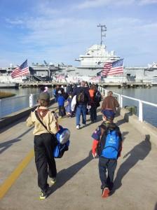 Boarding the U.S.S. Yorktown