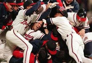 The 1995 Atlanta Braves after winning the World Series