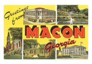 Macon post card