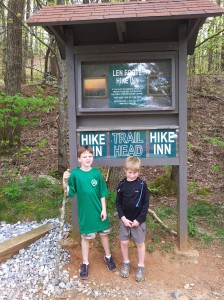 Harris and Will at the trail head