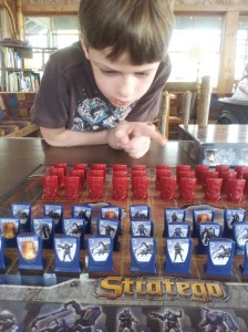 Harris plays Stratego for the first time