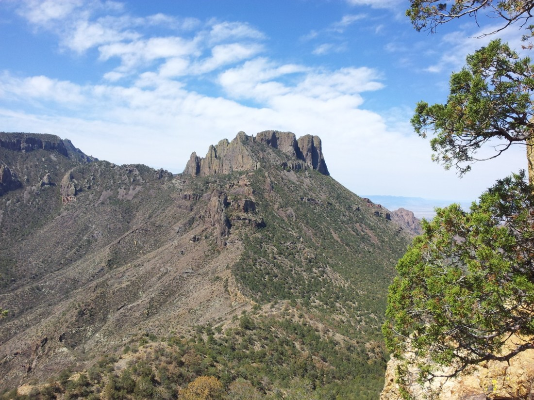Neighboring peak in the Chisos Mountains