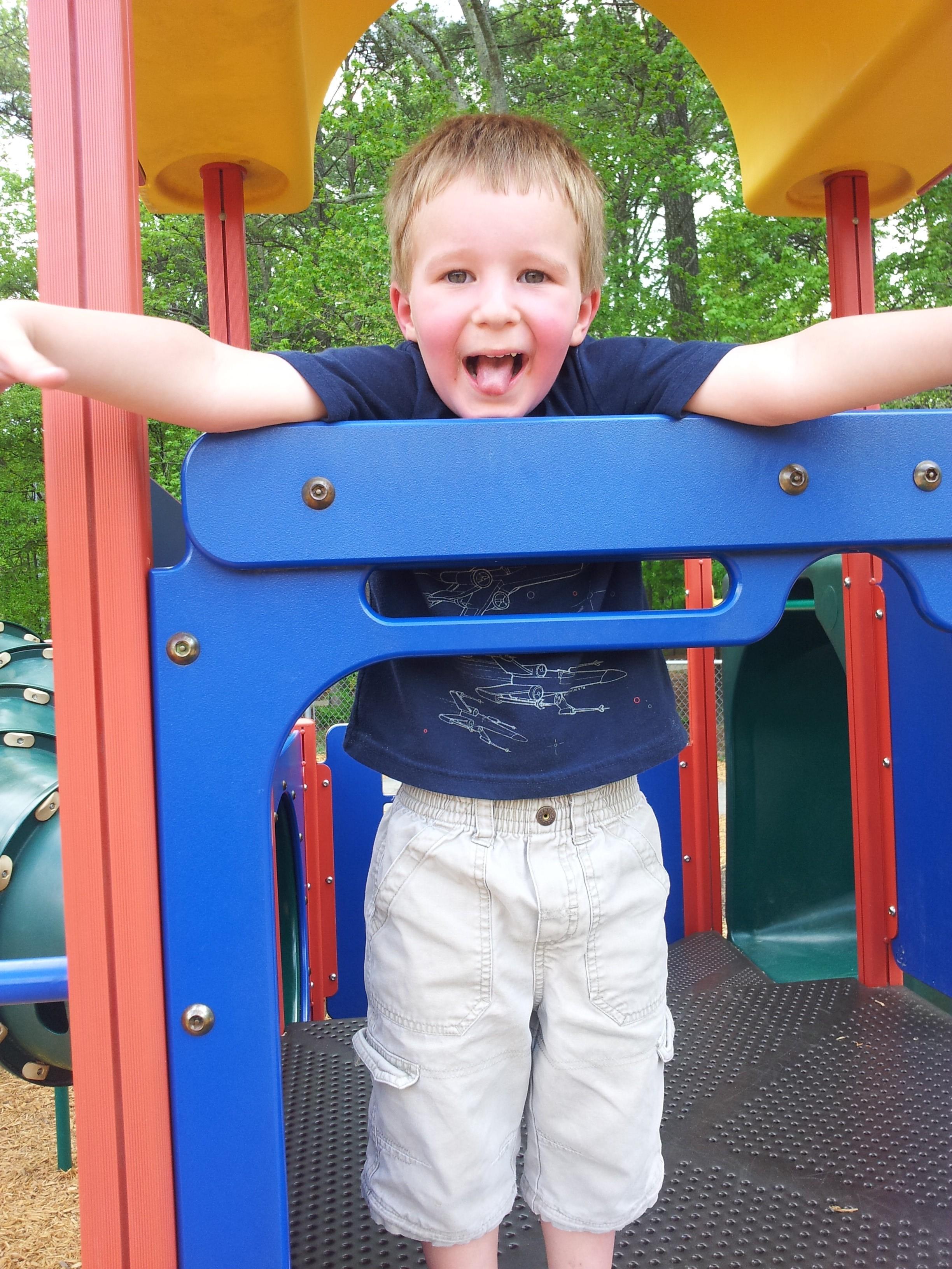 Carlton at the park