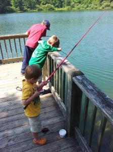 The boys fishing at Black Rock Lake