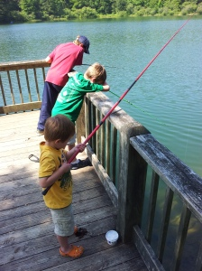 The boys fishing at Black Rock Lake