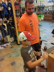 Lyle and Haydn at Cabela's