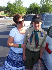 Carla and Barron, in his scout uniform