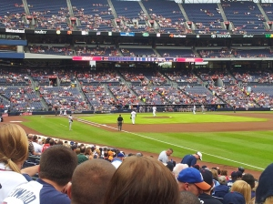 Our view at Turner Field