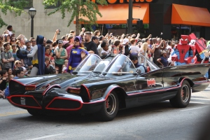 Batmobile at the Dragon*Con parade
