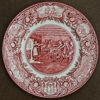 Nancy Hart on a pink Georgia Plate