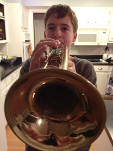 Barron with trumpet