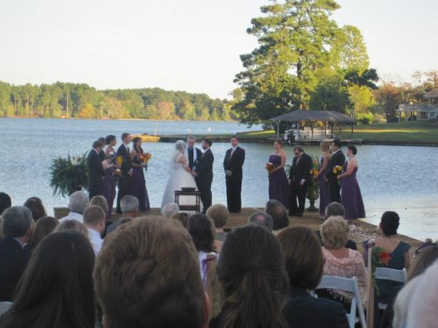 Alex and Natalie get married on a dock