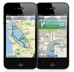 Screen shot of new Apple maps