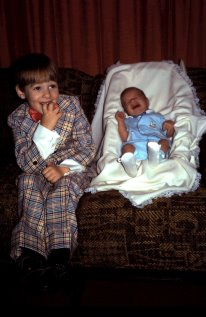 Lee, seen here on his first Easter, also survived my fashion disasters. Although to be fair, this wasn't my fault.