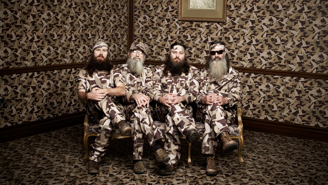 From left, Jase, Si, Willie and Phil Robertson are bearded Louisiana rednecks who are ruling the reality TV airwaves.