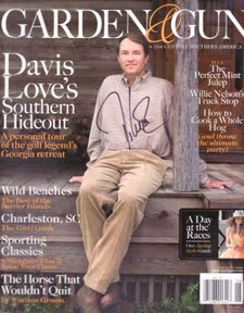 "Is it me or is Davis Love III ""Dufnering"" back in 2008 on the cover of Garden & Gun?"