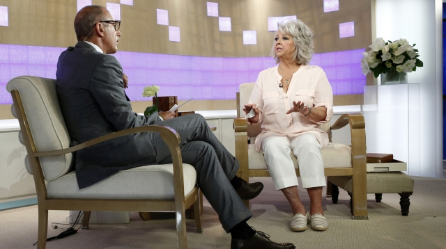 "NBC's Matt Lauer interviews Paula Deen on ""Today"" Wednesday morning."