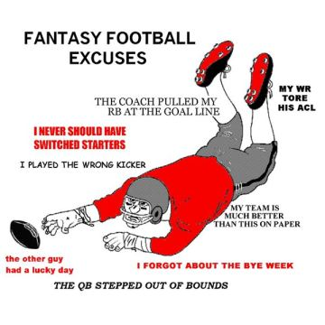 Fantasy football excuses