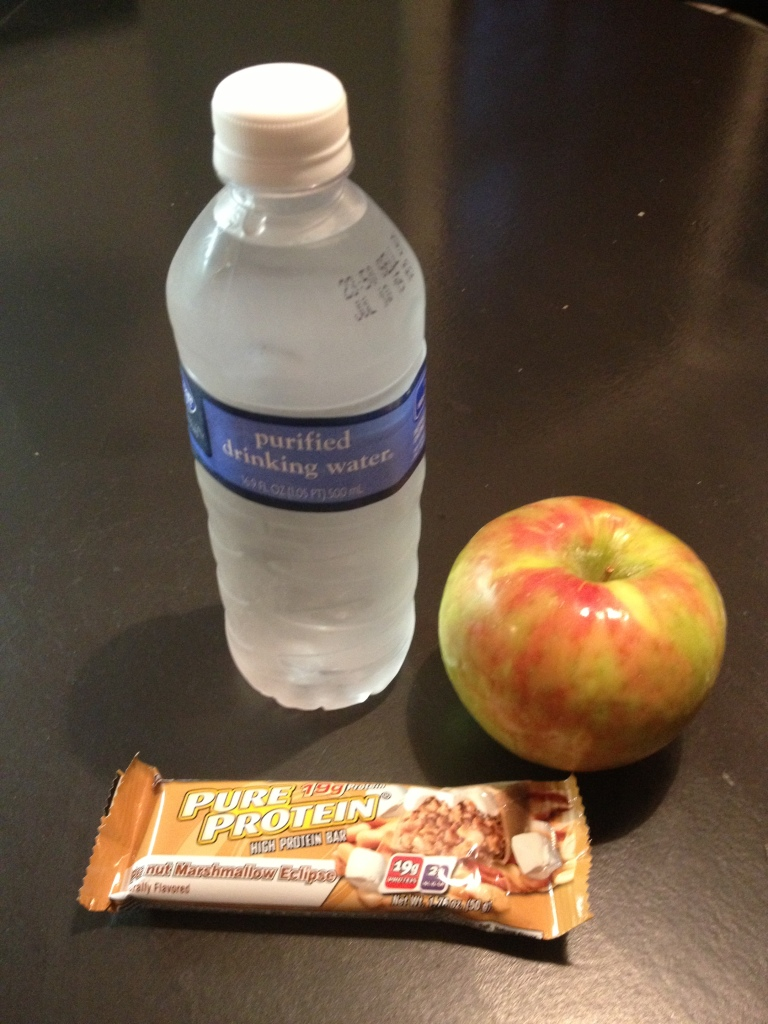 protein bar apple bottle of war
