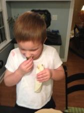 Carlton discovers the bell pepper in his fajita.