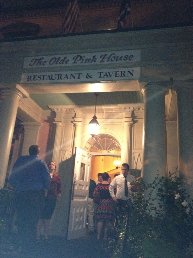 The Olde Pink House is supposedly haunted and is one the Savannah Ghost Tour. The food is hauntingly good.