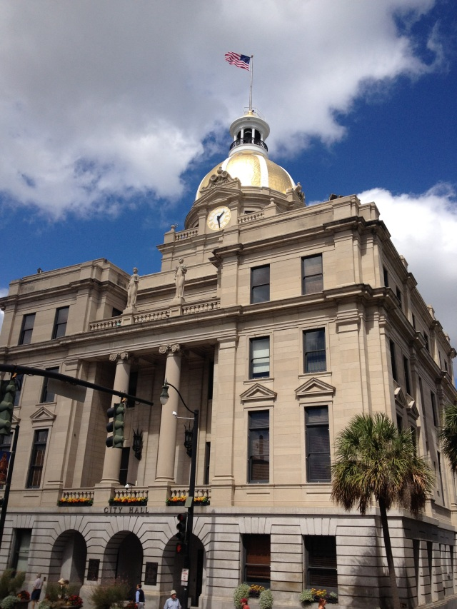 The Savannah City Hall is a landmark that may be impossible to take a bad picture of. It's one of many beautiful historic landmarks in the city filled with parks and squares.