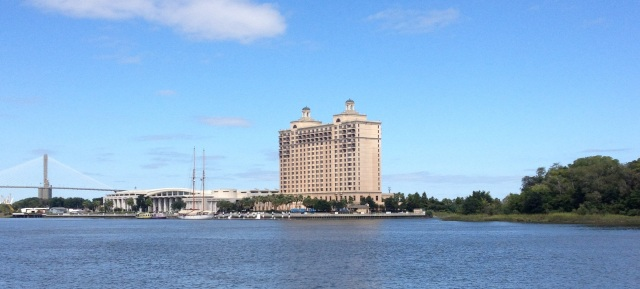 You can't beat the Westin Savannah Harbor for a weekend getaway. It's across the river from downtown, but worth the extra distance.