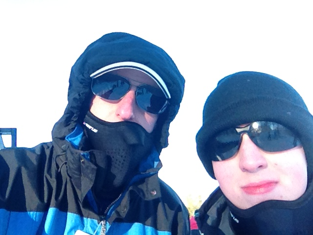 Barron and Lance on top of Beech Mountain