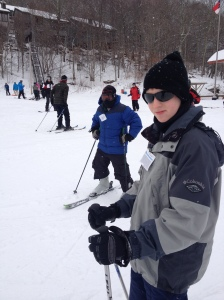 Barron snow skiing on the bunny slope