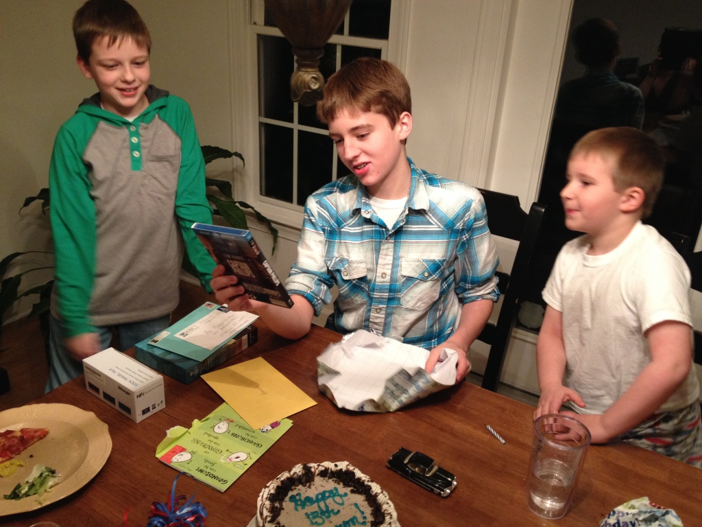 Barron opens presents on his 13th birthday