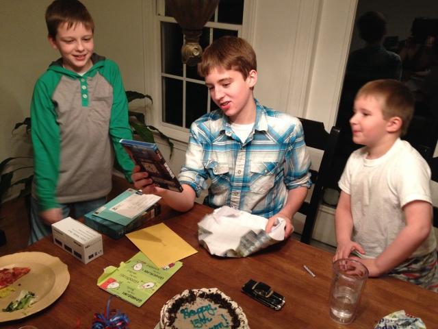 Barron opens presents on his 13th birthday