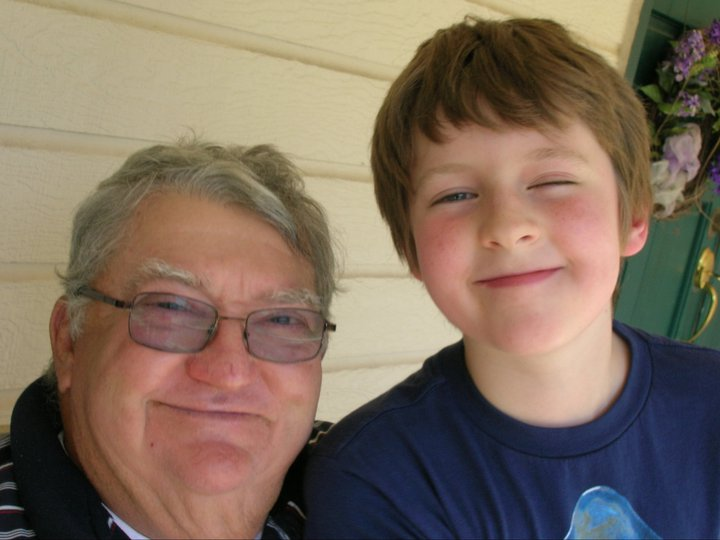 Lanny and Barron on the front porch several years ago. This smile is how I remember him.