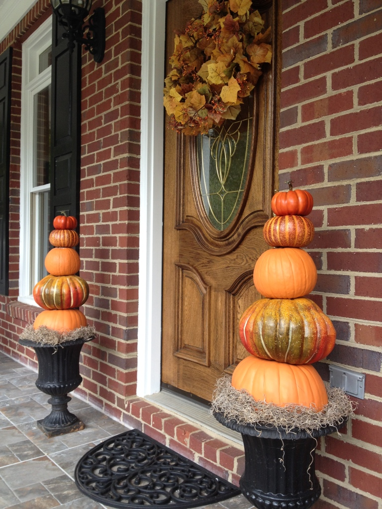 Carla took great joy in decorating a new front door this fall.