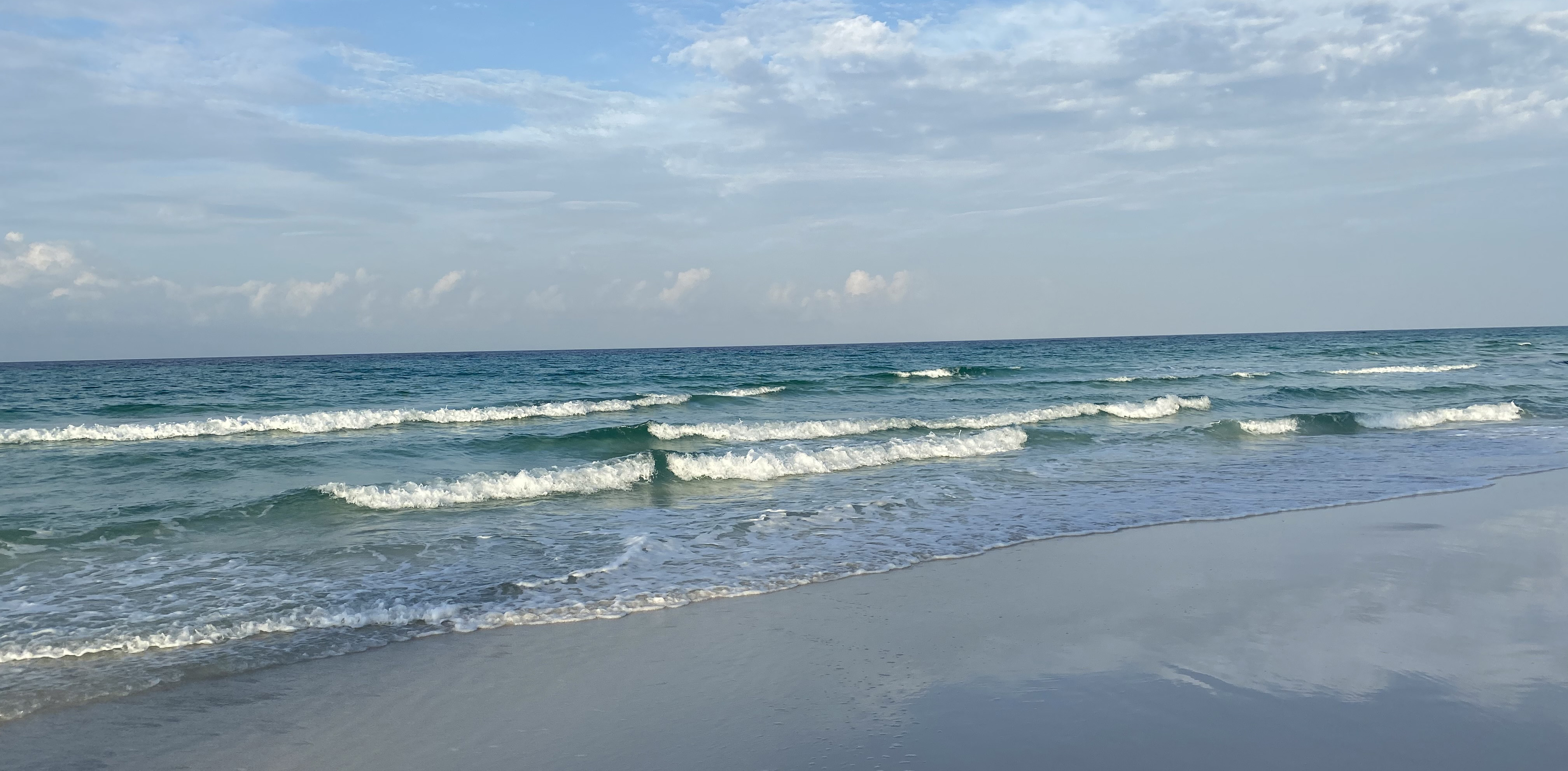 waves come to shore at Santa Rosa Beach, Florida