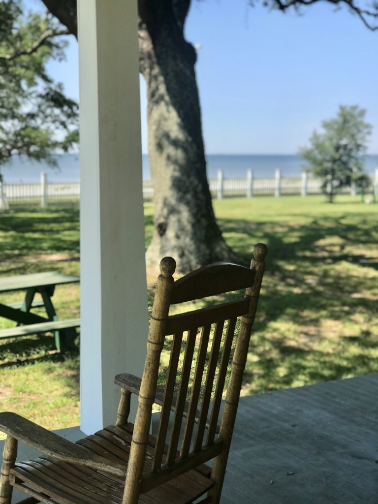 rocking chair, porch, ocean view